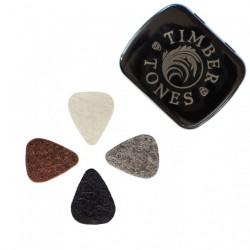 Tin of 4 SMALL felt picks...